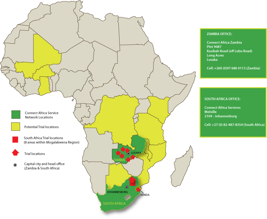 Location map | Connect Africa | image