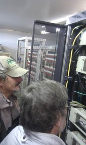 Dion and Ian checking the Server