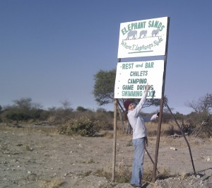 Elephant Sands Sign | Connet Africa | image