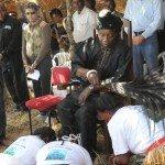 Chief Shakumbila with his subjects