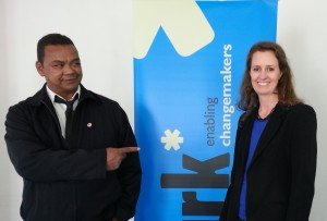 Paul Talliard, Spark* South Africa Changemaker of the Year 2014 with Telana Simpson, Connect Africa